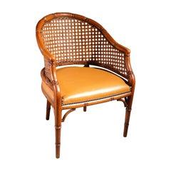 Italian Faux Bamboo Design Giorgetti Chair