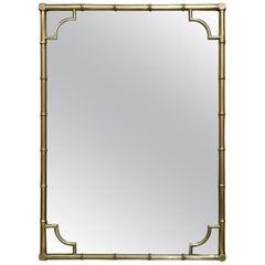 Italian Faux Bamboo Framed Mirror