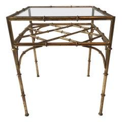 Italian Faux Bamboo Side Table
