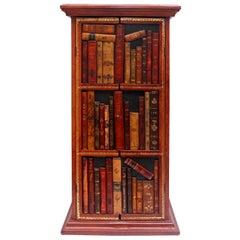 Italian Faux Bookcase Front Liquor Cabinet