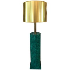 Italian Faux Malachite Floor Lamp by Piero Fornasetti