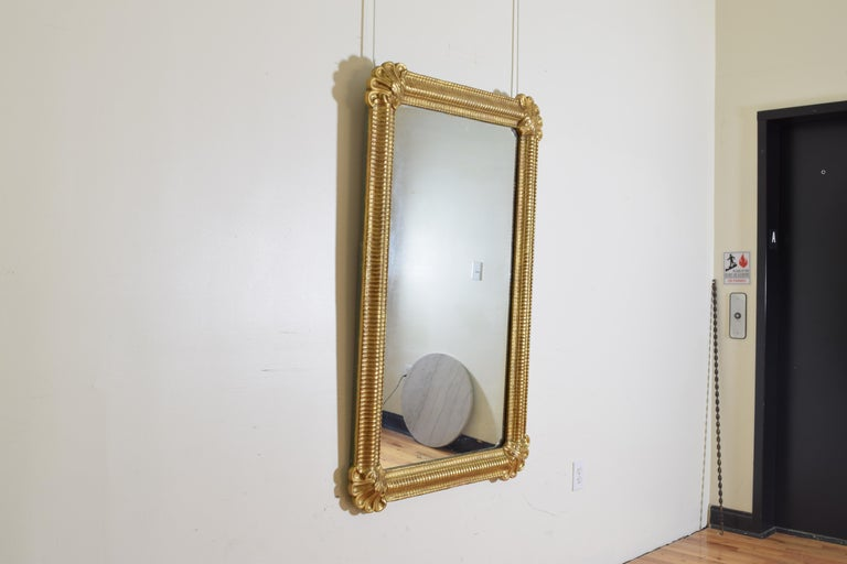 Louis Philippe Italian, Ferrara, Carved Giltwood and Gilt Gesso Mirror For Sale