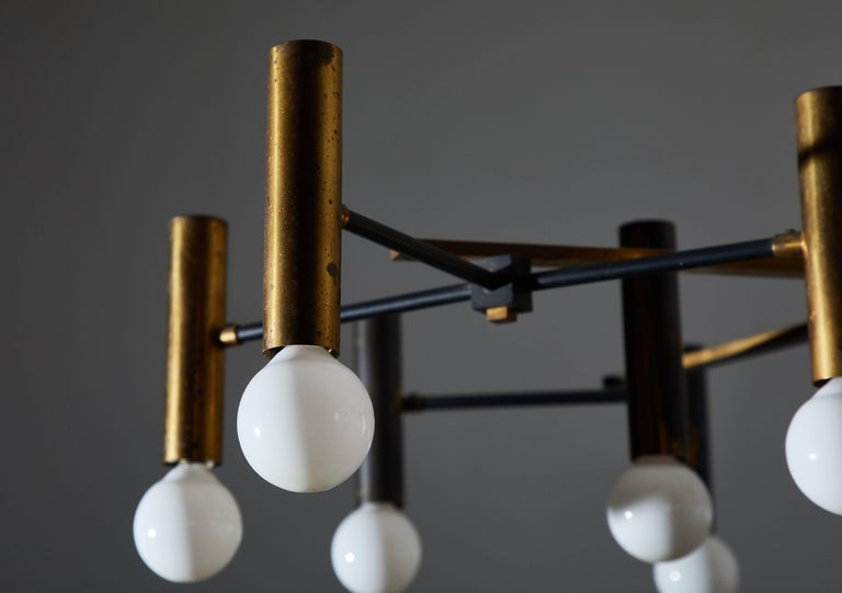 Fifteen-Arm Chandelier by Oscar Torlasco For Sale 2