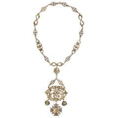 Italian Filigree Compass Necklace