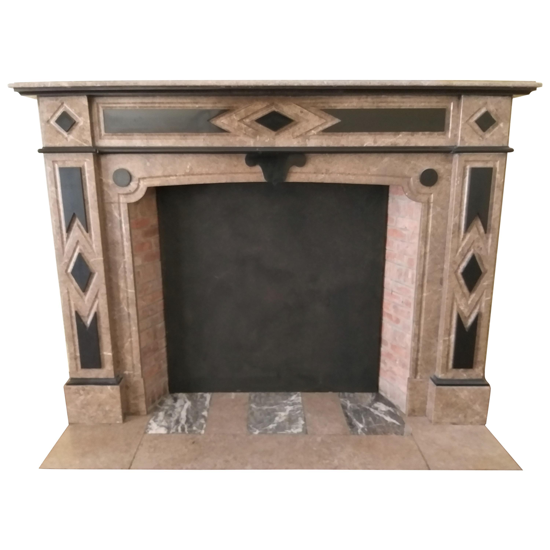Italian Fireplace, Late 19th Century