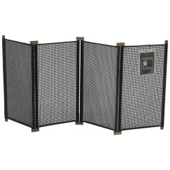 Italian Fireplace Screen by Tobia & Afra Scarpa, 1970s