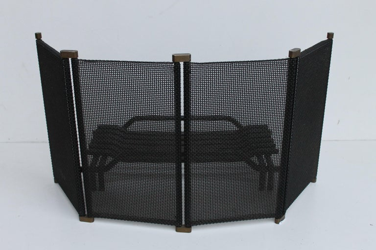 Mid Century Italian Fireplace Set by Tobia Scarpa for Dimensione Fuoco, 1983 For Sale 3