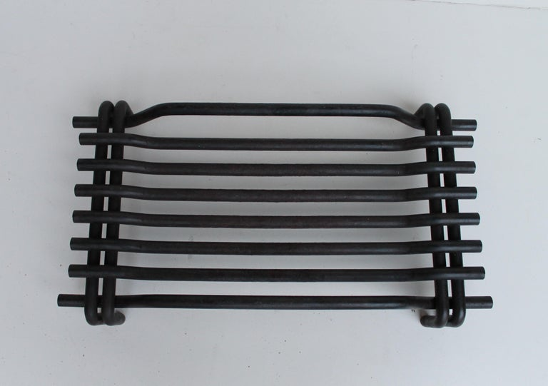 Late 20th Century Mid Century Italian Fireplace Set by Tobia Scarpa for Dimensione Fuoco, 1983 For Sale