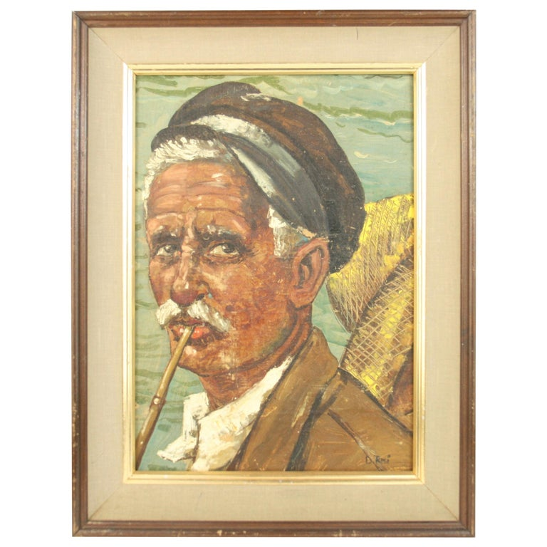 Italian Fisherman Painting For Sale