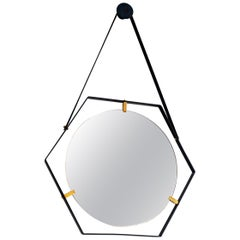 Italian Floating Hexagon Mirror