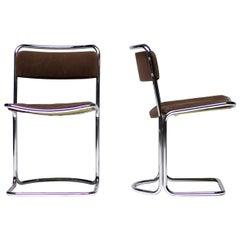 Italian Floating Tubular Side Chairs