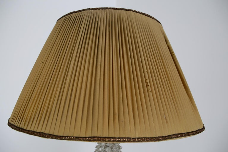 Italian Floor Lamp by Barovier & Toso in Rostrato Glass and Brass, 1940s For Sale 6