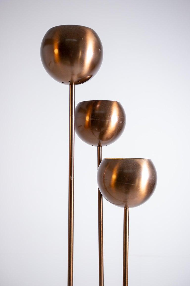 Mid-20th Century Italian Floor Lamps by Goffredo Reggiani in Copper, 1960s For Sale