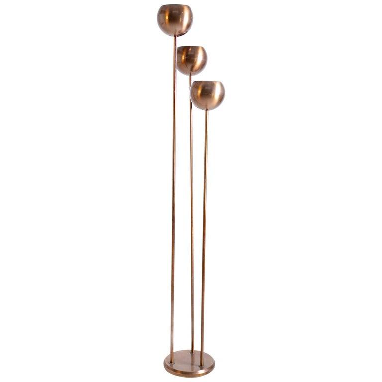 Italian Floor Lamps by Goffredo Reggiani in Copper, 1960s For Sale