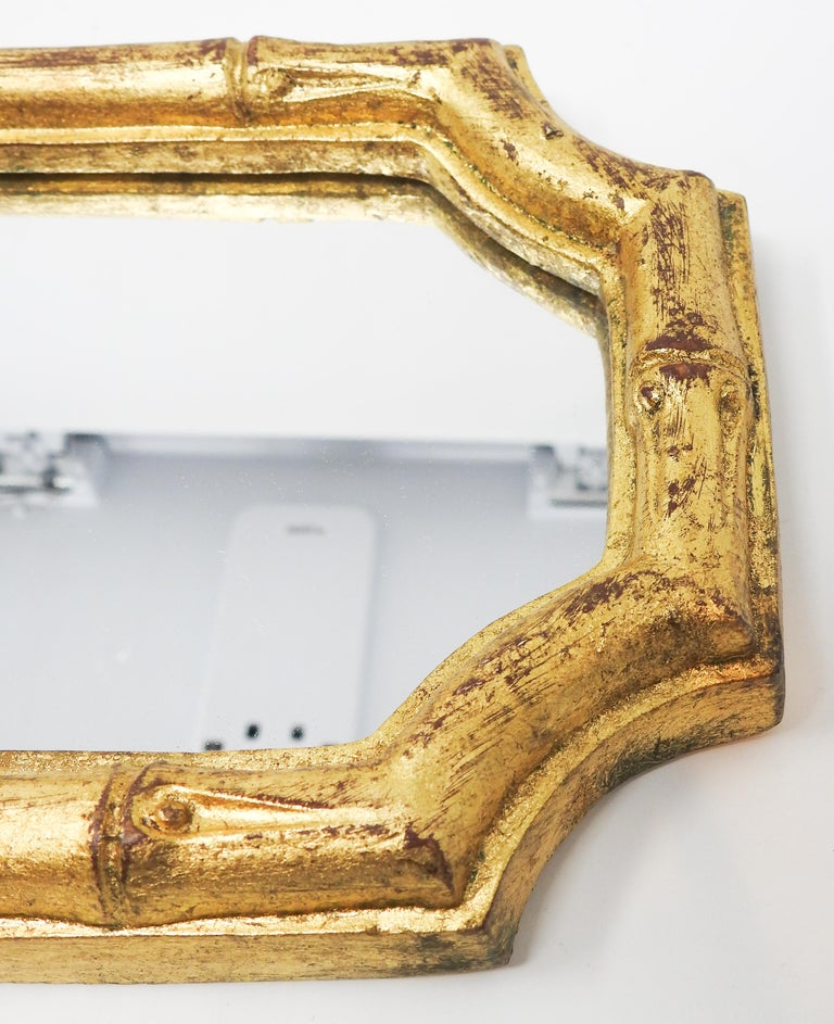 Hand-Crafted Italian Florentine Faux Bamboo Mirrors, Set of 3 For Sale