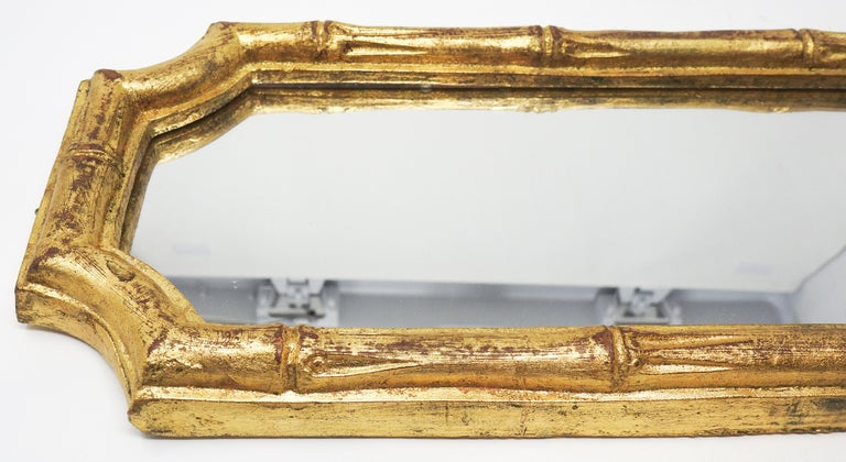 20th Century Italian Florentine Faux Bamboo Mirrors, Set of 3 For Sale