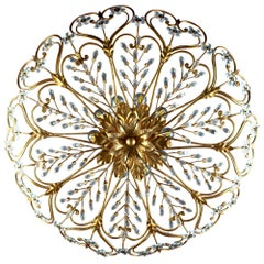 Italian Florentine Flush Mount or Ceiling Light, 1950s
