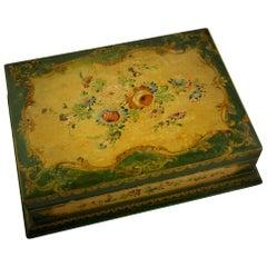 Italian Florentine Hand Painted Box, circa 1920s
