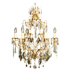 Italian Florentine Seven-Light Cage Antique Chandelier