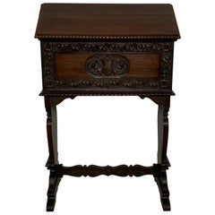 Italian Florentine Style Walnut Podium Desk, circa 1920