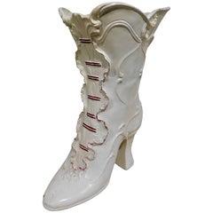 Italian Florist's High Heel Boot Advertising Store Display Vase