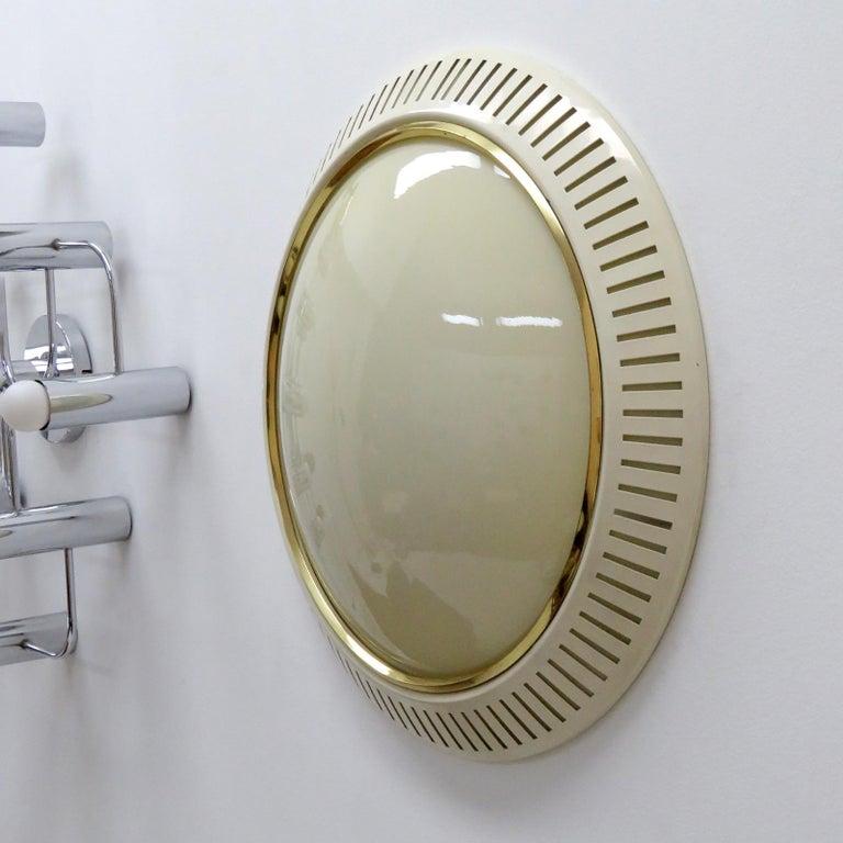 Mid-Century Modern Italian Flush Mount Light, 1960 For Sale
