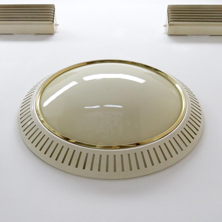 Italian Flush Mount Light, 1960 In Good Condition For Sale In Los Angeles, CA