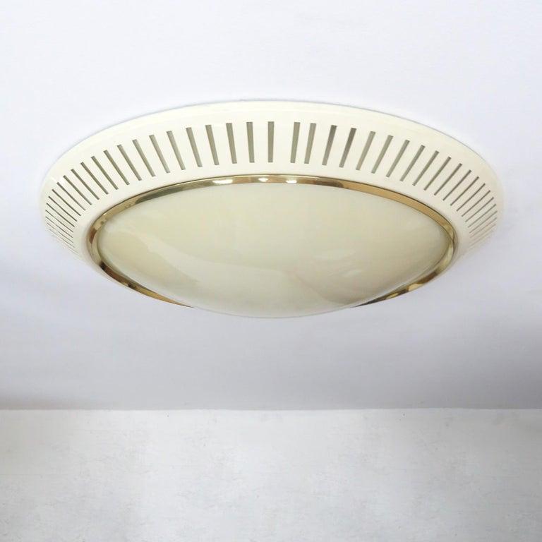 Glass Italian Flush Mount Light, 1960 For Sale