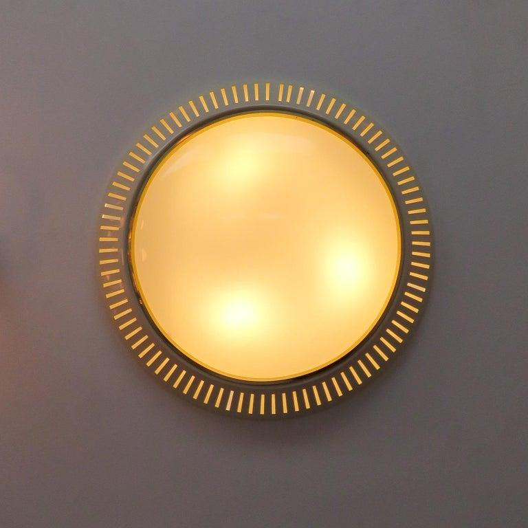 Italian Flush Mount Light, 1960 For Sale 1