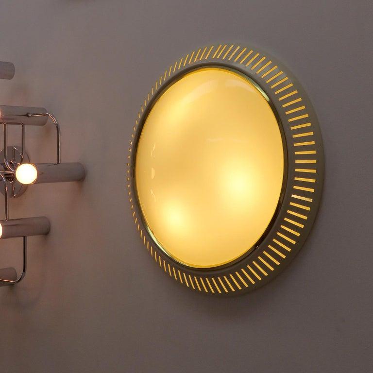 Italian Flush Mount Light, 1960 For Sale 2