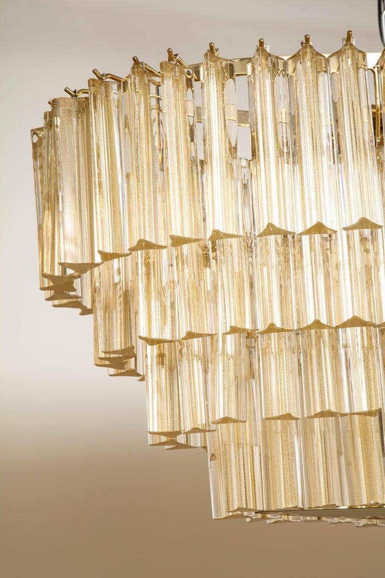 Italian Flush Mount Oval Murano Glass