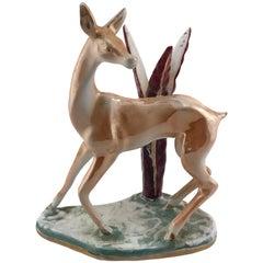 Mid Century Italian F.Mori Ceramic Animal Sculpture, 1950s