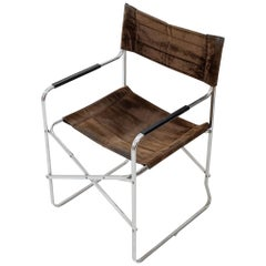 Italian Folding Chair in the Style of Gae Aulenti's 'April' Chair