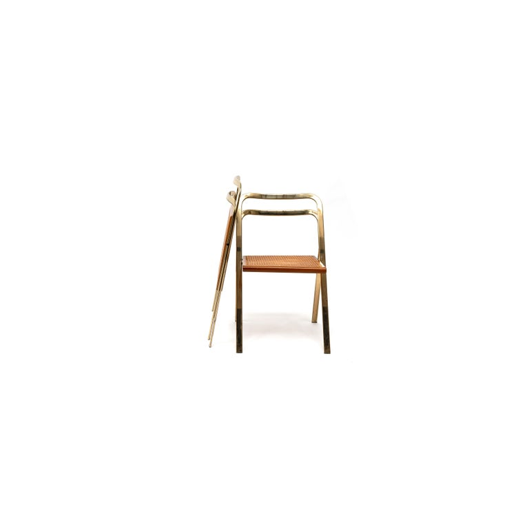 Mid-Century Modern Italian Folding Chairs by Giorgio Cattelan for Cidue, 1970s