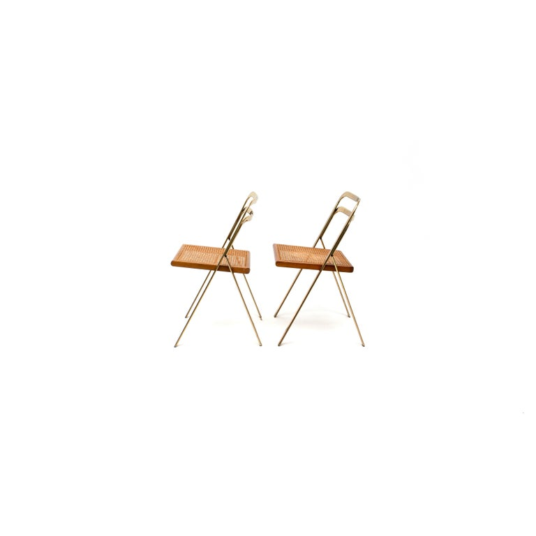 Italian Folding Chairs by Giorgio Cattelan for Cidue, 1970s In Good Condition In AMSTERDAM, NL