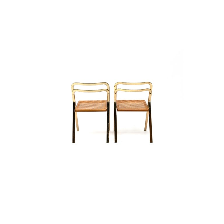 Late 20th Century Italian Folding Chairs by Giorgio Cattelan for Cidue, 1970s