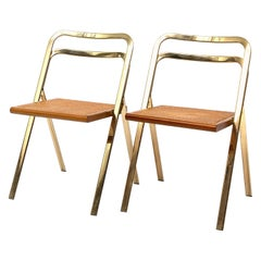 Italian Folding Chairs by Giorgio Cattelan for Cidue, 1970s