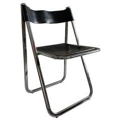 Italian Folding Chrome Chair, Italy, 1970s