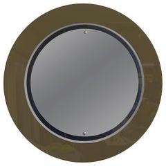 Italian Fontana Arte Inspired Round Mirror
