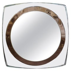 Italian Fontana Arte Inspired Square Beveled Mirror