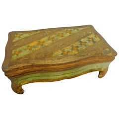 Italian Footed Florentine Box, Midcentury