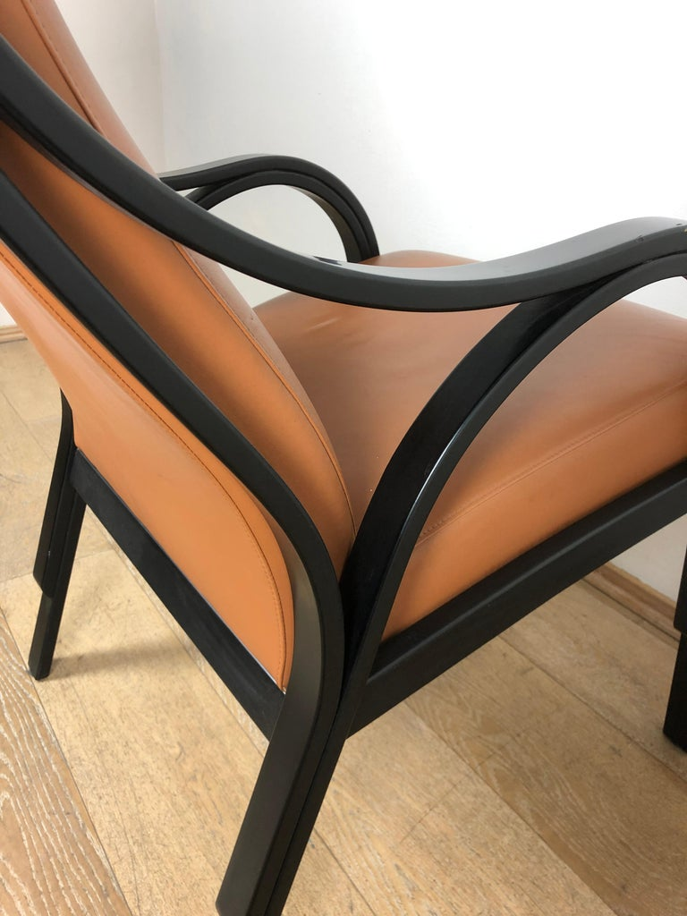 Poltrona Frau Cavour.Italian For Poltrona Frau Cavour Tobacco Leather Black Wood