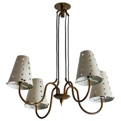 Italian Four-Arm Chandelier