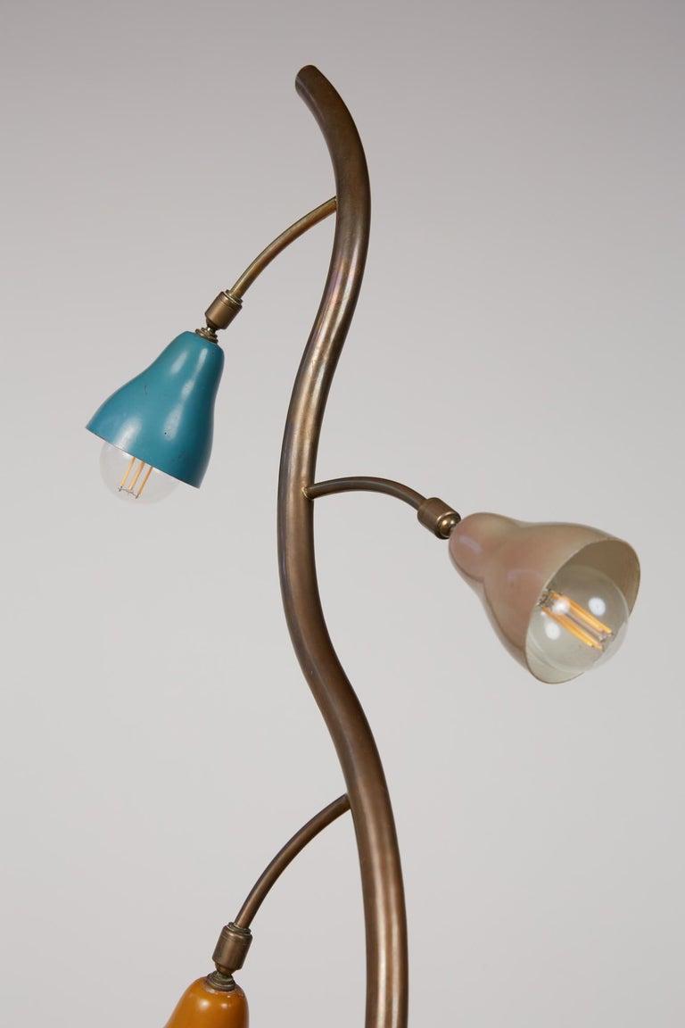 Italian Freeform Tulip Shade Floor Lamp For Sale 1