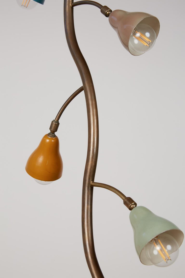 Italian Freeform Tulip Shade Floor Lamp For Sale 2