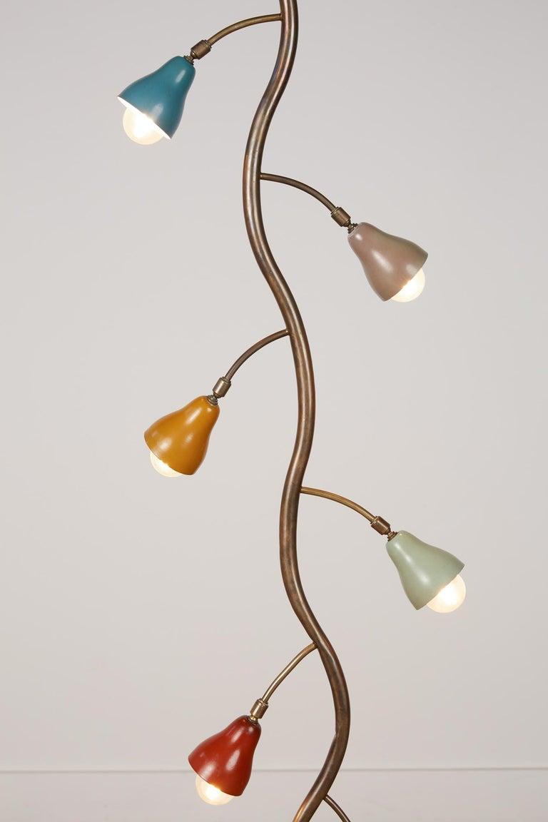 Metal Italian Freeform Tulip Shade Floor Lamp For Sale