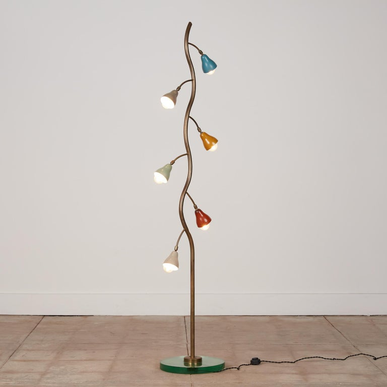 Mid-20th Century Italian Freeform Tulip Shade Floor Lamp For Sale