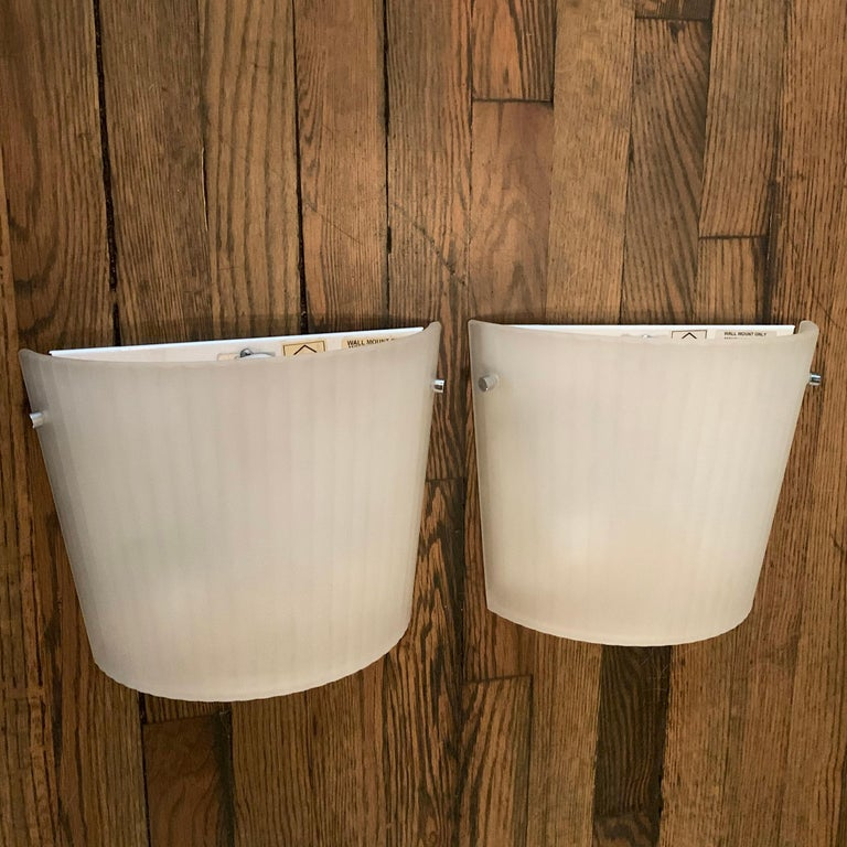Modern Italian Frosted Glass Wall Sconce Lights by Rodolfo Dordoni for Artemide For Sale
