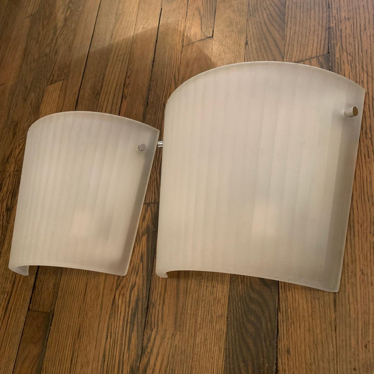 20th Century Italian Frosted Glass Wall Sconce Lights by Rodolfo Dordoni for Artemide For Sale