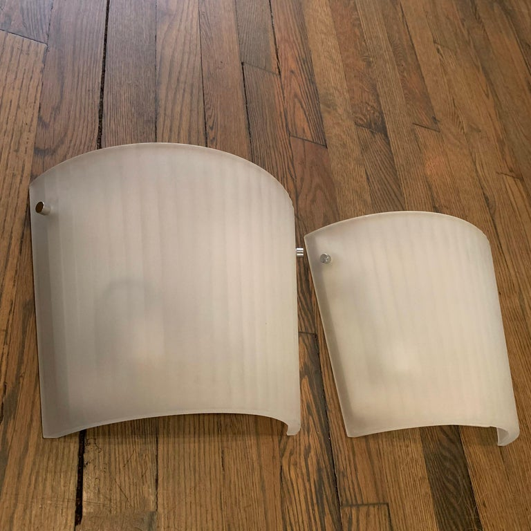 Italian Frosted Glass Wall Sconce Lights by Rodolfo Dordoni for Artemide For Sale 1
